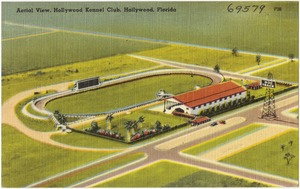 Aerial view, Hollywood Kennel Club, Hollywood Florida