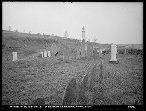Wachusett Reservoir, east to Beaman Cemetery, West Boylston, Mass., Apr. 6, 1904