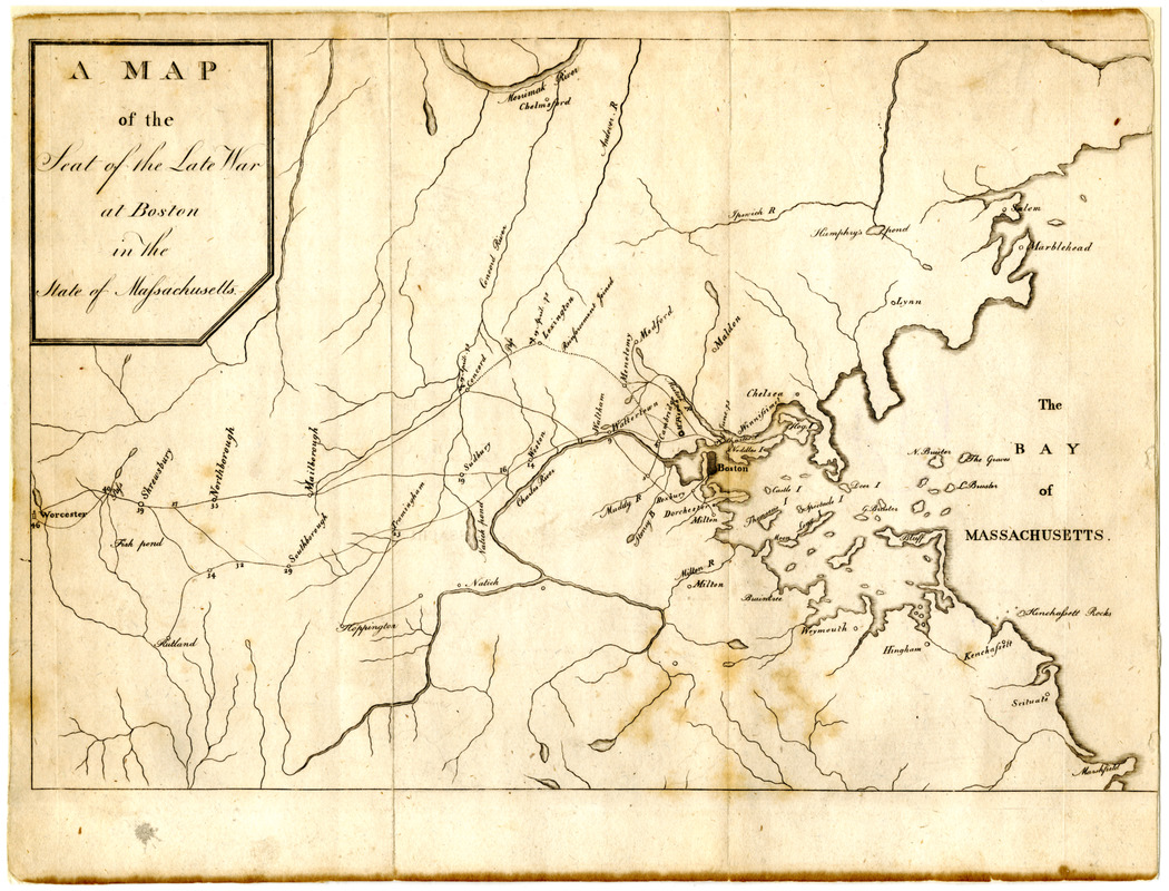 Map of the seat of the late war at Boston in the state of Massachusetts