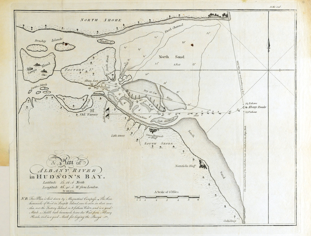 A plan of Albany River in Hudson's Bay