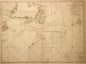 A chart of the Banks of Newfoundland