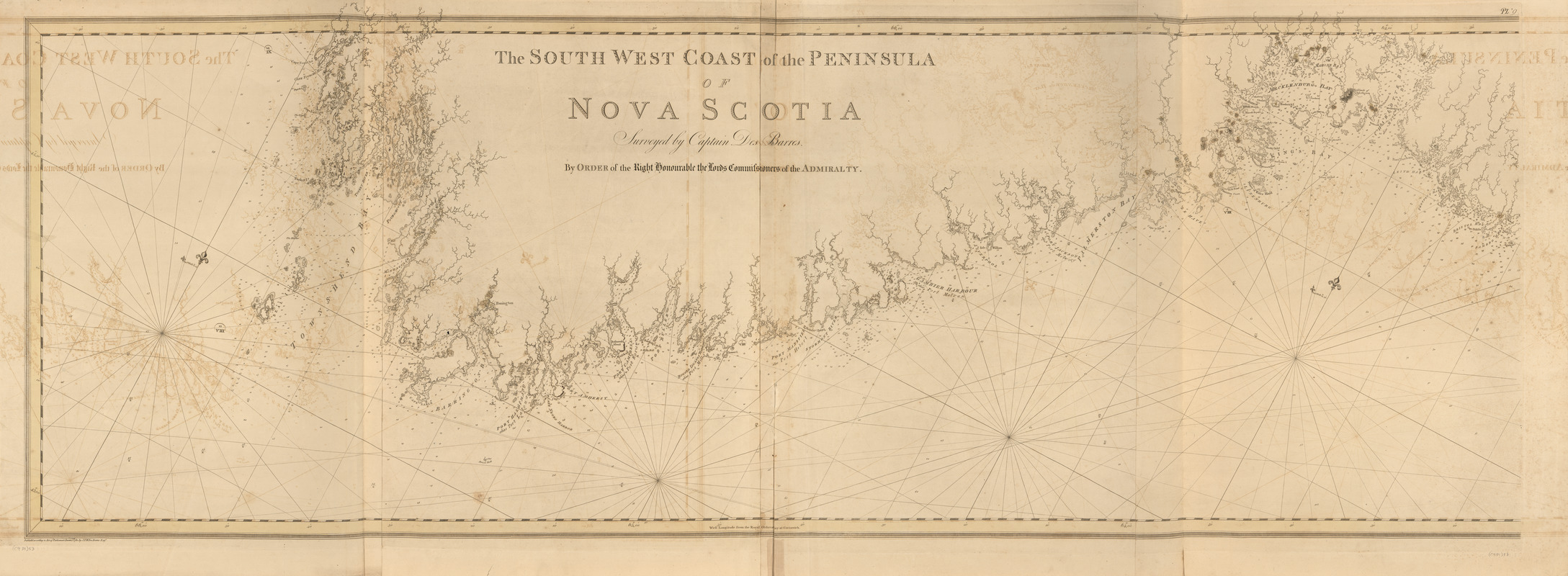 The south west coast of the peninsula of Nova Scotia