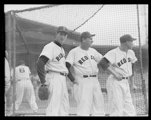 Fenway Park Opening Day. Ted Williams / manager Higgins