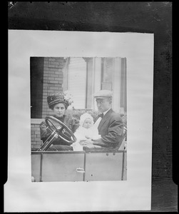 Mr. & Mrs. Ty Cobb with baby