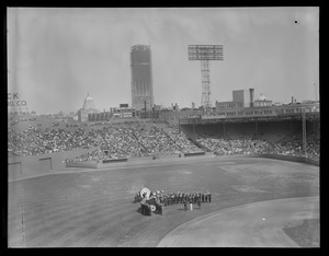 Band on field, Opening Day at Fenway