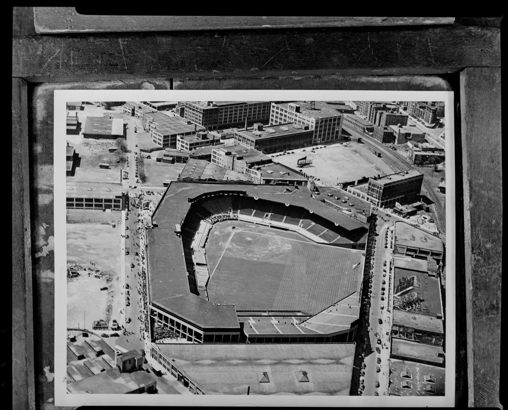 Aerial view of Fenway Park