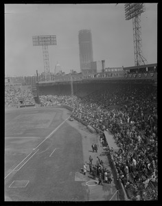 Opening Day at Fenway (Prudential under construction)