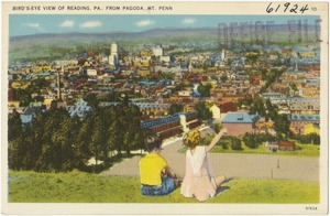 Bird's-eye view of Reading, PA.. From Pagoda. Mt. Penn.