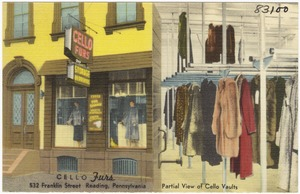 Cello Furs, 532 Franklin Street, Reading, Pennsylvania
