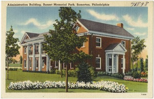 Administration building, Sunset Memorial Park, Somerton, Philadelphia