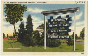 At the approach of the park, Somerton, Philadelphia