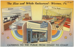 The Blue and White Restaurant - Warren, Pa.