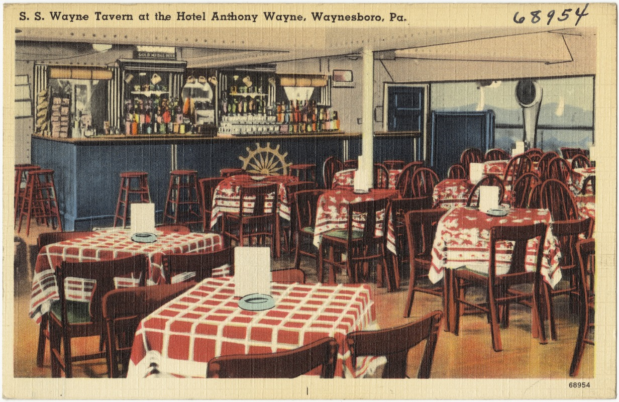 S Wayne Tavern At The Hotel Anthony Waynesboro Pa