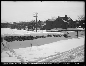 Relocation Central Massachusetts Railroad, Alexander Ohnsman's house, (compare with No. 4312), Clinton, Mass., Jan. 25, 1904