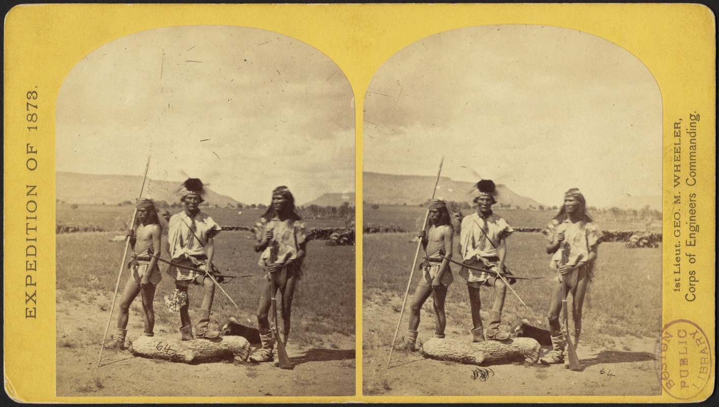 Apache Indians, as they appear ready for the war-path