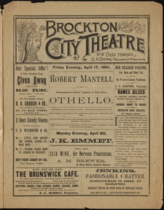 Brockton's Golden Age of Theater: Brockton City Theatre Packets 1884-1922