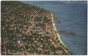 Aerial view of Colonial Beach, Virginia