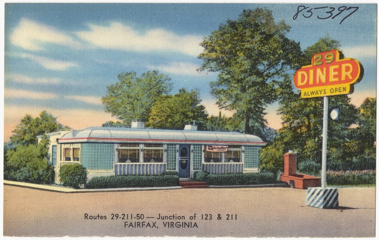 29 Diner, routes 29 - 211 - 50 -- Junction of 123 & 211, Fairfax, Virginia