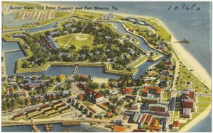 Aerial view, Old Point Comfort and Fort Monroe, Va.
