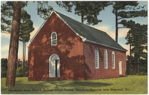 Merchants Hope Church, second oldest English church in America, near Hopewell, Va.