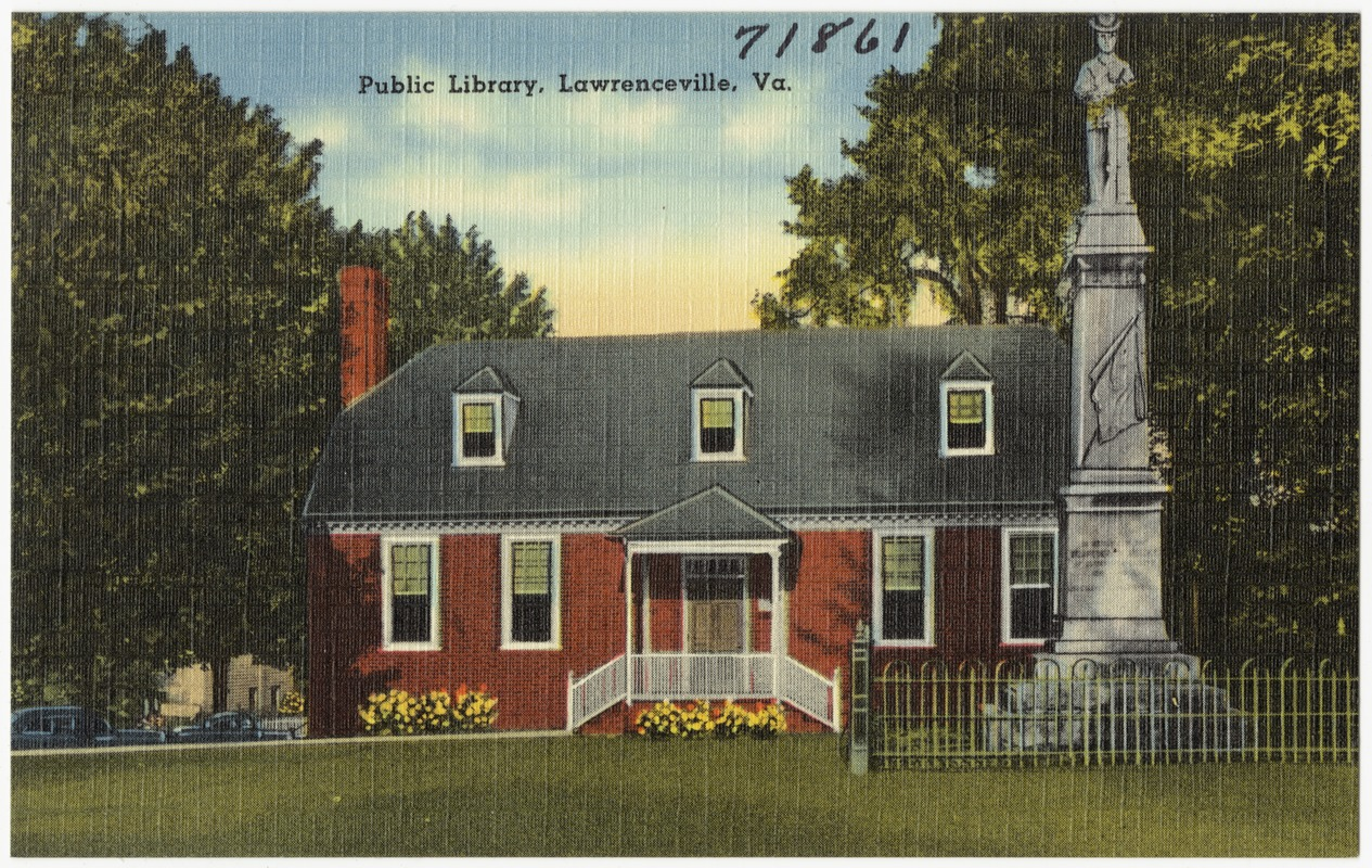 Public library, Lawrenceville, Va  - Digital Commonwealth