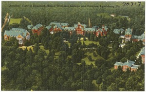 Airplane view of Randolph-Macon Woman's College and campus, Lynchburg, Va.