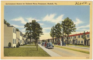 Government homes for enlisted Navy Personnel, Norfolk, Va.