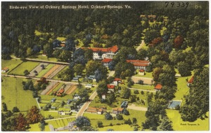 Birds-eye view of Ockney Springs Hotel, Ockney Springs, Va.