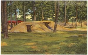 Battlefield Park, entrance to tunnels, Petersburg, Va.