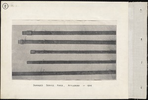 Electrolysis, Emory Street, damaged service pipes, Attleboro, Mass., 1904