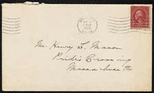 [Letter] 1930, August 7, Winstead, Connecticut [to Henry L. Mason, Pride's Crossing, Massachusetts]