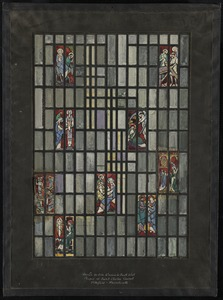 Design for side window in south wall, Chapel of Saint Charles Convent, Pittsfield, Massachusetts