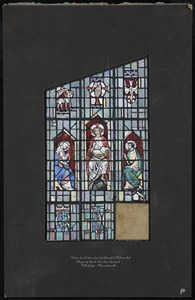 Design for window opposite chancel at entrance end, Chapel of Saint Charles' Convent, Pittsfield, Massachusetts
