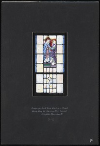 Design for south aisle window in chapel, Saint Mary the Morning Star Convent, Pittsfield, Massachusetts, 3-S