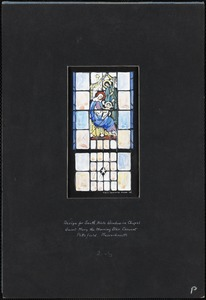 Design for south aisle window in chapel, Saint Mary the Morning Star Convent, Pittsfield, Massachusetts, 2-S