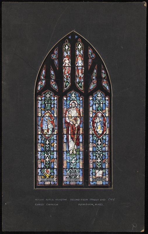 North aisle window second from street end, Plymouth, Mass.