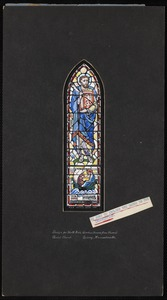 They went forth and preached, the Lord working with them. Design for north aisle window, second from chancel, Christ Church, Quincy, Massachusetts