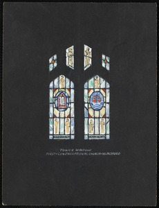 Tower window, First Congregational Church, W. Medford