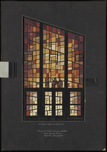 #19 Blessed mother Elizabeth Seton, design for southeast window in narthex, Saint George's Church, Saxonville, Massachusetts