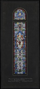 Design for east window on the stairs to the choir gallery near the front vestibule, Saint Michael's Cathedral, Springfield, Massachusetts. C1.
