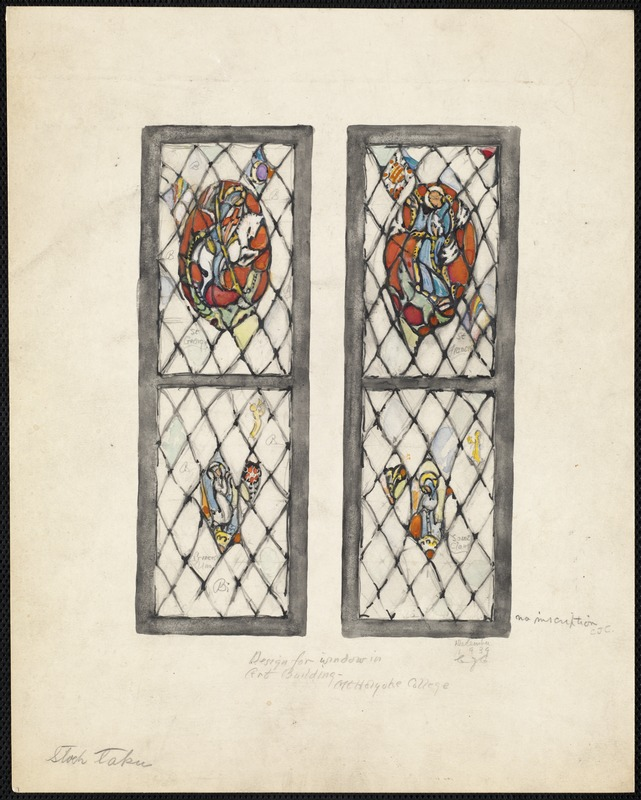 Design for window in art building, Mt. Holyoke College