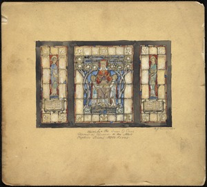 Sketch from the Donna D. Couch memorial window, in the Mark Hopkins School, North Adams.
