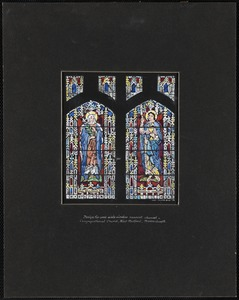 Design for west aisle window nearest chancel, Congregational Church, West Medford, Massachusetts.