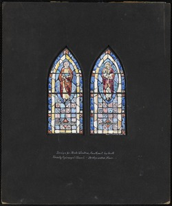 Design for aisle window, southeast by south, Trinity Episcopal Church, Bridgewater, Mass.