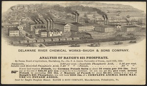 Delaware River Chemical Works - Baugh & Sons Company. Analysis of Baugh's $25 Phosphate