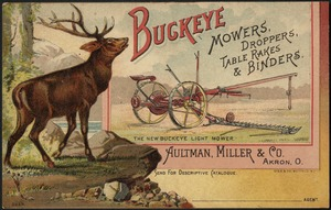 Buckeye mowers, droppers, table-rakes & binders.