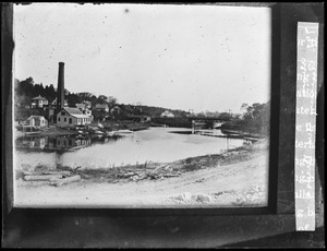 Fore River above toll bridge westerly view