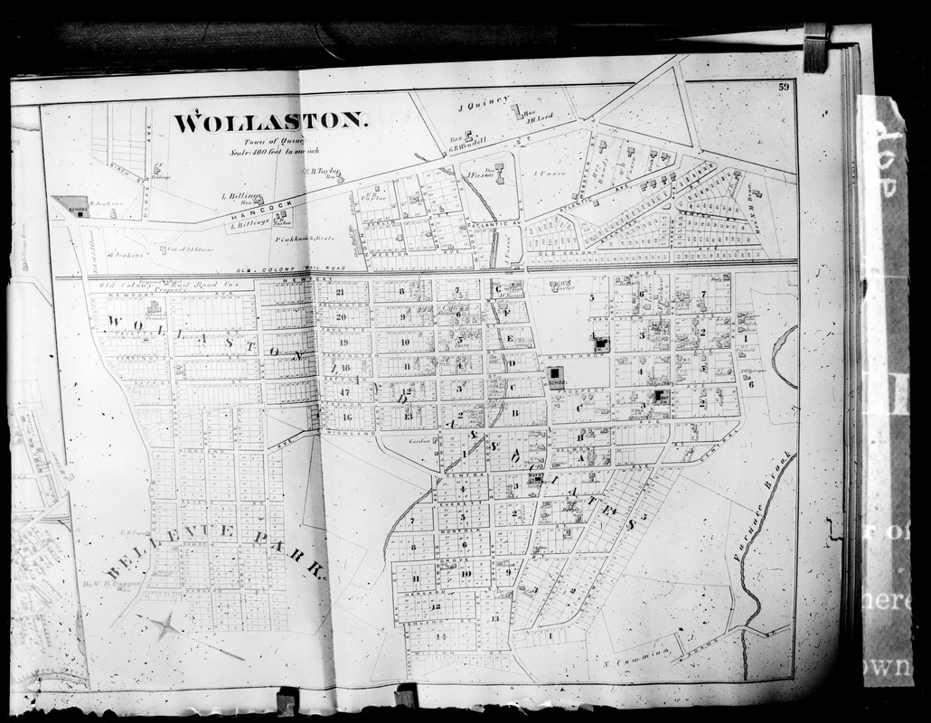 Bellevue Park and northerly part of Wollaston