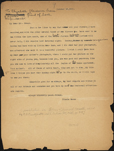 Nicola Sacco typed letter (copy) to Elizabeth Glendower Evans, [Dedham], 13 October 1923