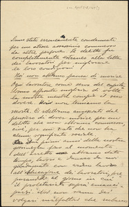 Autographed letter to [Nicola Sacco and Bartolomeo Vanzetti], [ca. 1-8 April 1927?]